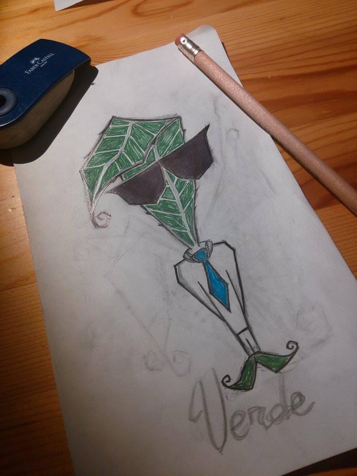 Luca Forlani Graphic Design San Bendetto Sketch verde