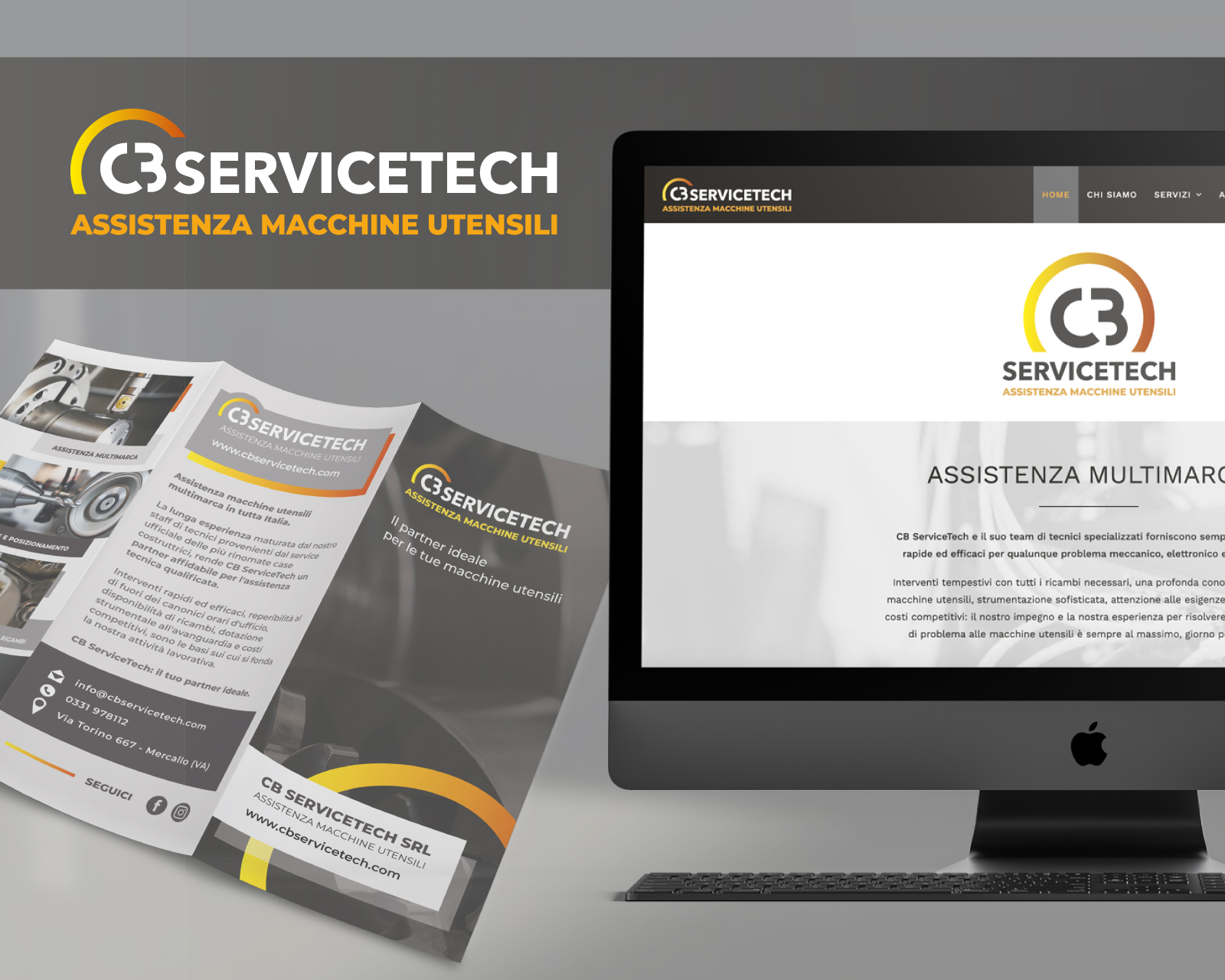 Luca Forlani Graphic Design CB Service Tech Sito Web Brochure img cover