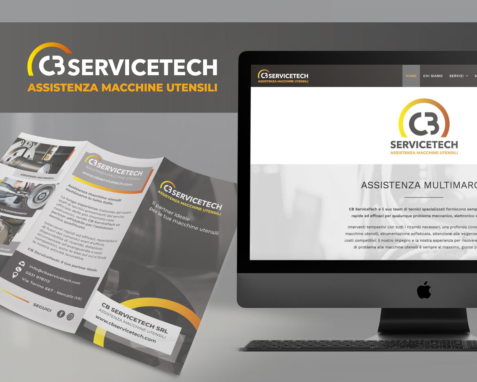 Luca Forlani Graphic Design CB Service Tech Sito Web Brochure img cover
